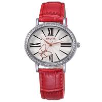 SKONE Watch Women Casual Watch With Roman Dial Women Leather Strap Analog Quartz Sport Wristwatches