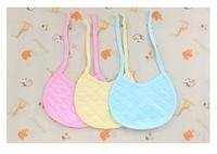 Free Shipping 100PCS/LOT Baby Girl Boy Towel Saliva Waterproof Kids Cotton 3 Colors Toddler Lunch Bibs Burp Cloths