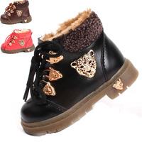 Hot Sale Winter Fashion Non-slip Soles Cow Muscle Martin Boots Korean Version Snow Boots Baby Winter Thicken Warm Villi Shoes