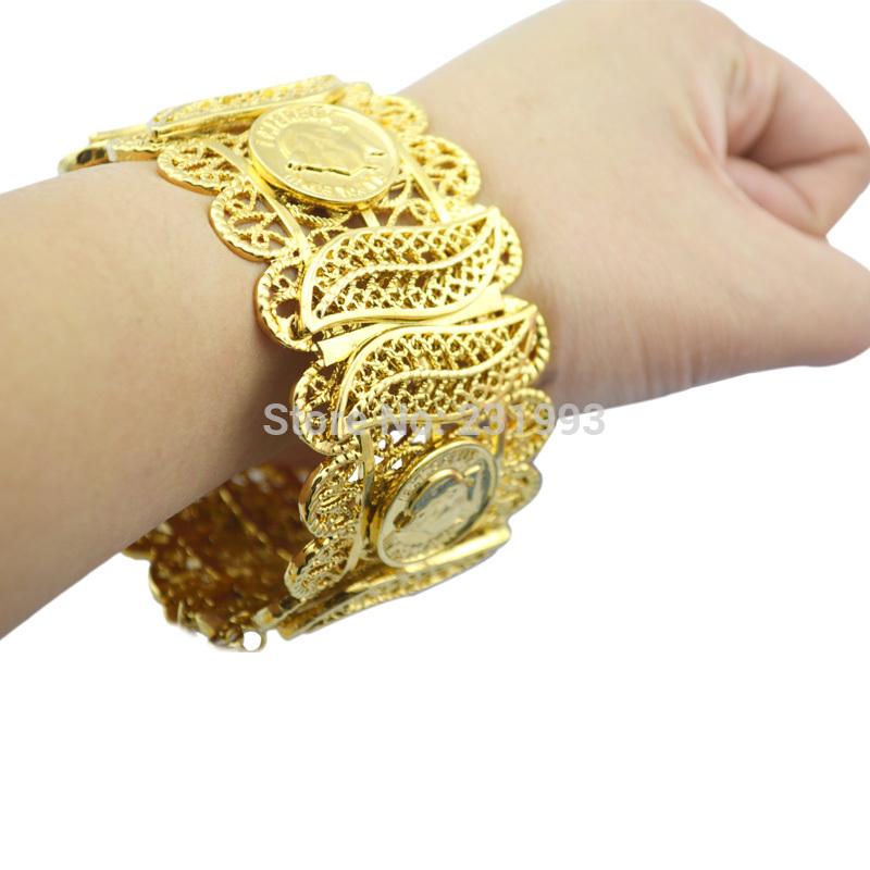 Newest Design top quality 18K gold filled French jewelry bracelet bangle Napoleon bangle(China (Mainland))