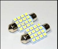 Hot Sale 31mm/36mm/39mm/41mm 3528/1210 16Smd Led Car Dome Festoon Interior Light Bulbs Auto Roof