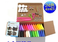 with tool Super light DIY Craft clay 20g 24 colors non-toxic environmental colour play dough clay mud,education toy