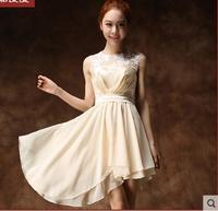 Short paragraph bridesmaid dress bride dress fashion lace party dress