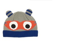 2015 New Kids Winter Carton Cap Super Man Knitted hat Lovely  Glasses Cap 2size 2-3y,3-5y