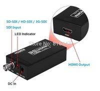 Free shipping 1PCS Mini 3G 1080P HDMI to SDI SD-SDI HD-SDI 3G-SDI HD Video Converter with power adapter in retail package