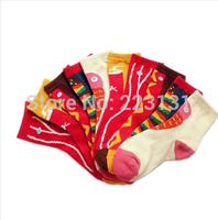 5pairs=10pcs Girls' socks cotton personalized popular food 100% cartoon cotton socks