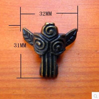 20pcs Antique Brass Jewelry Box Feet Animal Box Leg Furniture Leg 31*32mm with install screw(China (Mainland))