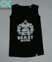 2015 New Mens/Women's Tank Shirt - BEAST MODE GYM Bodybuilding Fitness Tank T shirt Vest  Sleeveless T-Shirt custom printing tee