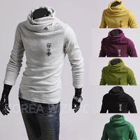 2014 New fashion man casual pullovers  men turtleneck sweaters  M- XXL