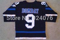 Movie Worn 1973 Mighty Ducks Hawks #9 Gordon Bombay Jersey - Custom Your Any Name Number Stitched Sewn On XXS-6XL