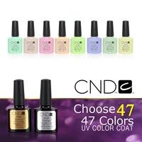 2 Pcs/lot 2014 New CND Shellac Soak Off UV LED Nail Gel Polish Total 47 Fashon Colors For Nail Gel Free Shipping