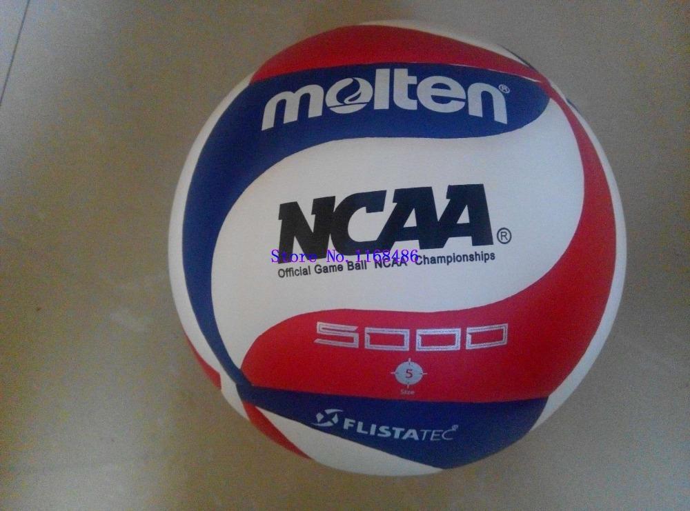 Расплавленный официальный размер нкаа 5000 волейбол мягкий полиуретан ламинированный 18 панели на открытом воздухе / внутренний матч волейбол