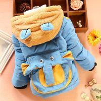 Kids boy coat children coat thick fingers plus three-dimensional elephant velvet coat