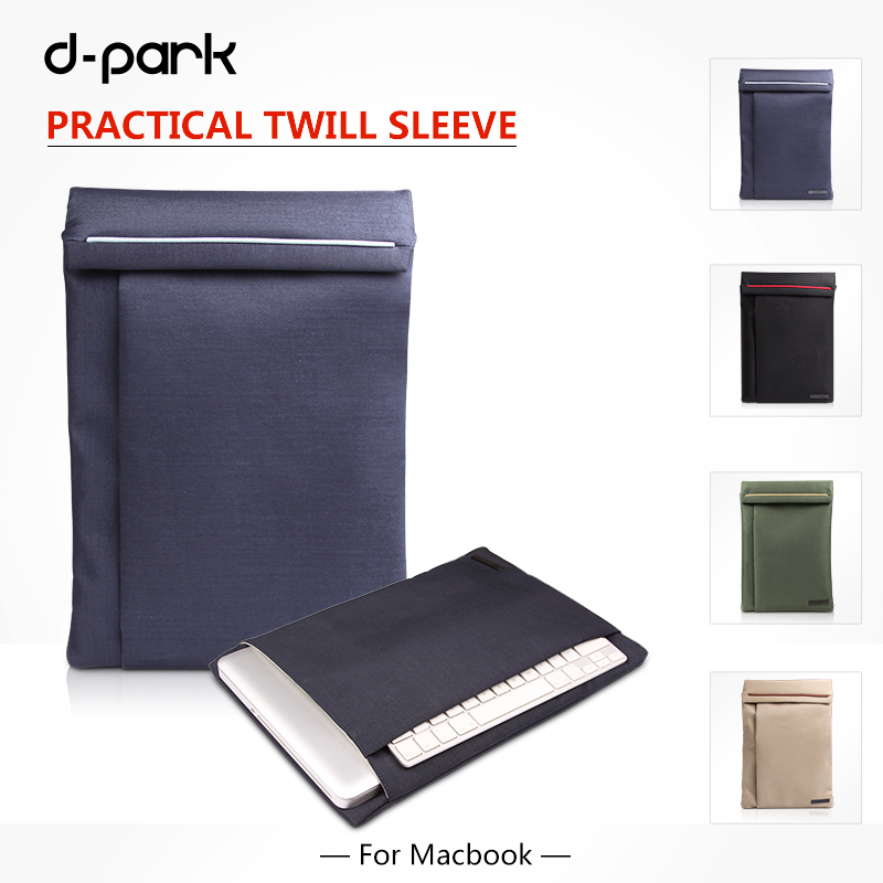 D- parc en nylon sergé& étui en cuir sleeve étui pour macbook air13'&/rétine pro13'/pro 13/13.3/xps 13/5160 12