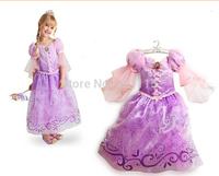 Fantasia Vestidos,2014 Children Kids Cosplay Dresses Rapunzel Costume Princess Wear Perform Clothes HOT Sale free shipping