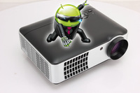 Newest! 2800Lumen 1080P Android 4.2.2 WiFi Smart 3d home theater projector,Full HD Portable Video TV Beamer