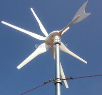 1pcs 6 blades DC12V 24V wind power generator 300w wind turbine windmill garden ornament
