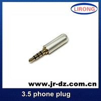 5pcs Good Quality R 3.5mm  Male Headphone Jack 3.5 mm Stereo Earphone Audio & MIC Adapter For 4mm Cable Adapter