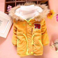 2014 winter children's clothing boy child coat covered with fish plus thick velvet coat Children