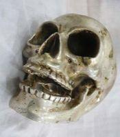 Wonderful tibet silver big skull death's head netsuke sculpture wholesale Cheap silver art gif