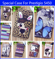 Cool cute cartoon painted leather case stand case for Prestigio MultiPhone 5450 DUO, gift
