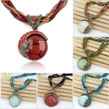 Christmas Gift New Fashion Women Handmade Charm Beads Chain Vintage Necklace & Pendant Chunky Bib Statement Choker Necklaces M13