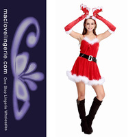 Christmas Dance Costumes Free Shipping White Red Adult New Fashion Sexy Cosplays For Women ML8062 Christmas Costumes For Party