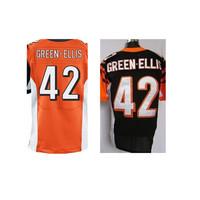 2015 men's football jersey # 42 Green-ellis jersey size M-XXXL elite jersey mixed order free shipping
