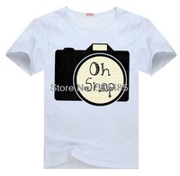 Camera Oh Snap Camera Photography  tee  t shirt for kid Boy Girl clothing  top  clothes cartoon tshirt Dress
