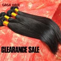 100% Malaysian Virgin Hair Straight Human Hair Weave Weft 6A Unprocessed Natural Black Free Shipping Gaga Hair Extensions