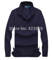 TOP QUALTIY men women fashion polo shirt casual shirts,Long sleeve fashion shirt fleece Polo fleece 100% cotton small horse