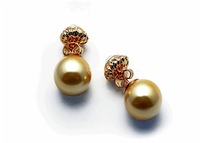 Jewelry wholesale 18 k rose gold plated with Austrian crystal pearls Female fashion personality fashion stud earrings