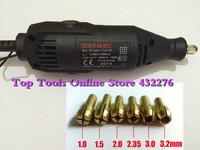 New 220V 180W DREMEL Electric Tool 5Speed Adjustable Mini Electric Drill Grinding Jade Carving Machine+5 Pcs/set collets EU Plug
