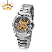 WEiGUAN Man Brand Luxury Watches, All Steel Hollow Out Mechanical Watch Waterproof Stainless Steel Men Watch  WI-1352