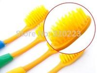 Free shipping 4pcs/lot Fashion wholesale retail drop Korea nano bamboo Anion Charcoal health dual adult toothbrush high quality