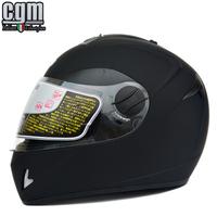 Free shipping!CGM motorcycle full face helmet vintage double lens kart racing helmet winter capacete with inner sun visor ECE