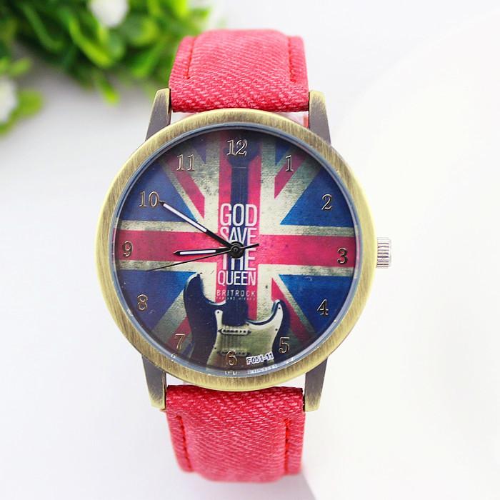 Women Wristwatch Luxury Fashion Casual Watch Men Women Quartz watch UK Flag partten Fabric band Women Ladies Watch Wholesale Hot(China (Mainland))