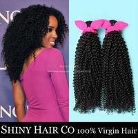 4 Bundles Malaysian Virgin Hair Kinky Curly Natural Black 6A Unprocessed Human Hair Weave Grace Hair Products Modern Show Hair