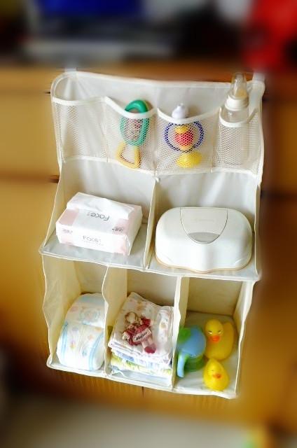 Waterproof baby bed hanging storage bag newborn crib organizer bags baby toys bag free shipping(China (Mainland))