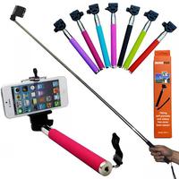 Z07-1 Universal Extendable Handheld Monopod+Phone Holder Self-Portraits Selfie Stick Tripod For iPhone6 5S Samsung Note Camera