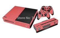 New XBOX One console Carbon Fibre Skin Sticker Wood Grain Vinyl Sticker Decal + 2 Controller Skins sticker for x box one console