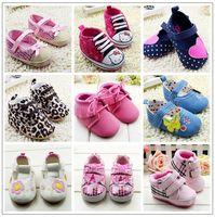 2014 New Sweet princess Baby shoesGirls shoesTenis Infantil First walkers Newborn baby girl Toddler  Sapato infantil Soft