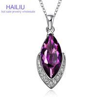 FVRN006Free shopping Fashion High End Platinum Plating Ladies Necklace Crystal Pendant