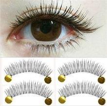 2014 Casual charming 10Pairs Makeup False Eyelashes Holiday sale Soft Natural Cross Long Eye Lashes Extension