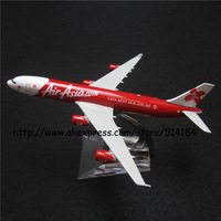 16cm Alloy Metal Air Asia CAPA BEST NEW AIRLINE Airbus 340 A340 Airways Plane Model Airplane Model w Stand Aircraft Toy Gift