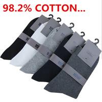 98.2% cotton 220 Den Super Soft Classical  Men's Socks Winter Auturm Long Plain Solid Socks For men 5pairs=10pieces