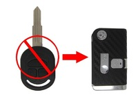 NEW ! 3 Buttons Modified Flip Remote Key Shell for Buick Excelle(3D Carbon Fiber Sticker)