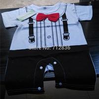 Retails 1pc  (0-12M) children kids toddlers baby Boy's short Romper For 2013 Summer. gentleman Style Jumpsuit,