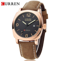 Hot Sale! CURREN 8158 Men's Military Watches,Men's Leather Strap Sports Watches,100 Meter Waterproof,12-month Guarantee