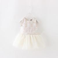 Girls summer embroidery tutu dress , dress for children , kids clothes girls , 6pcs/lot   FJP25